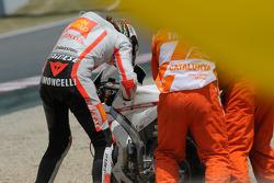 Marco Simoncelli, San Carlo Honda Gresini se accidenta