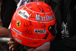 The old helmet of Michael Schumacher, Mercedes GP