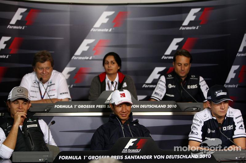 Nico Rosberg, Mercedes GP, Norbert Haug, Mercedes, Motorsport chief, Monisha Kaltenborn, Managing director BMW sauber F1 Team, Kamui Kobayashi, BMW Sauber F1 Team, Adam Parr, Williams F1 Team, Nico Hulkenberg, Williams F1 Team