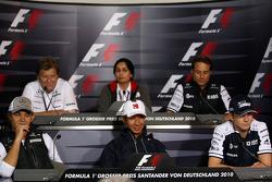 Nico Rosberg, Mercedes GP, Norbert Haug, Mercedes, Motorsport chief, Monisha Kaltenborn, Direktörü BMW sauber F1 Team, Kamui Kobayashi, BMW Sauber F1 Team, Adam Parr, Williams F1 Team, Nico Hulkenberg, Williams F1 Team