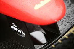 Arden logo on the nose of the car of Miki Monras