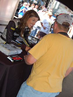 The lovely Miss Sprint Cup signs autographs