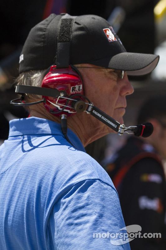 Coach Joe Gibbs watches race action