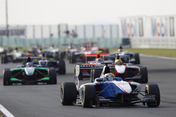 Nico Muller leads Robert Wickens and Esteban Gutierrez at the start of the race