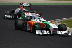 Andy Soucek rijdt voor Michael Schumacher, Mercedes GP