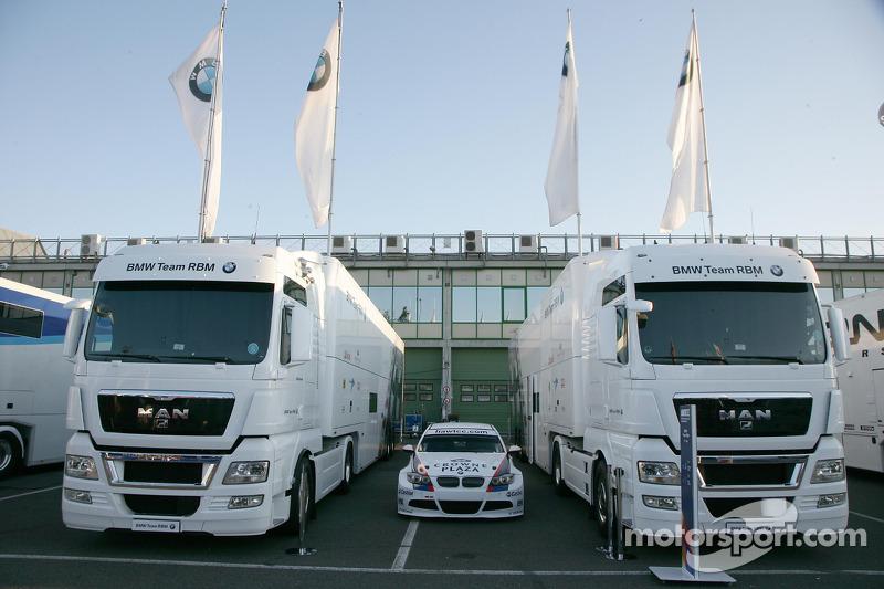 BMW Team RBM trucks paddock