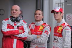 Dr. Wolfgang Ullrich, Audi Chef du sport , Timo Scheider, Audi Sport Team Abt et Oliver Jarvis, Audi Sport Team Abt Audi A4 DTM