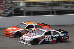 Dale Earnhardt Jr., Hendrick Motorsports Chevrolet, Joey Logano, Joe Gibbs Racing Toyota