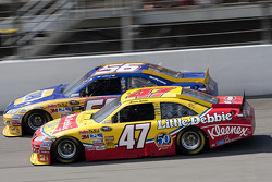 Marcos Ambrose, JTG Daugherty Racing Toyota, Martin Truex Jr., Michael Waltrip Racing Toyota
