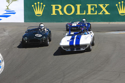 William Cotter, 1964 Cobra 289, attacks Terry Gough, 1965 Chevrolet Corvette