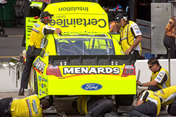 Richard Petty Motorsports Ford team members at work