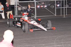 Race winner Helio Castroneves, Team Penske enters victory lane