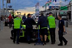 #75 Krohn Racing Ford Lola taken to technical inspection