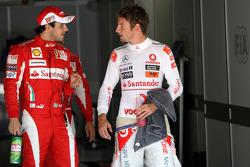 Felipe Massa, Scuderia Ferrari, Jenson Button, McLaren Mercedes