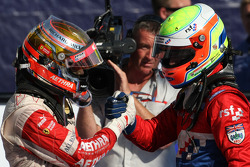Second place Jules Bianchi and third place Oliver Turvey
