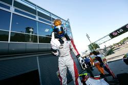 Esteban Gutierrez celebrates pole position and winning the Championship