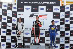Race 1 podium and results: 1st Nicola de Marco, 2nd Will Bratt, 3rd Armaan Ebrahim
