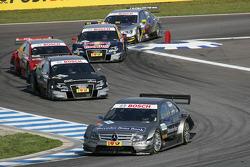 Bruno Spengler, Team HWA AMG Mercedes C-Klasse, Timo Scheider, Audi Sport Team Abt Audi A4 DTM, Mike Rockenfeller, Audi Sport Team Phoenix Audi A4 DTM, Mattias Ekström, Audi Sport Team Abt Audi A4 DTM