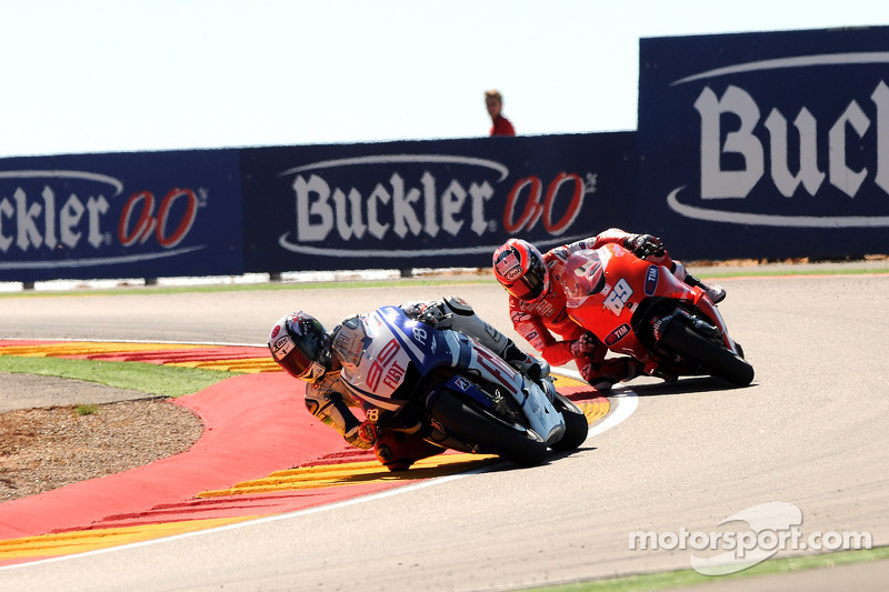 20010: Jorge Lorenzo y Nicky Hayden, GP de Aragón