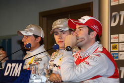Conférence de presse : Paul di Resta (Mercedes), auteur de la pole position devant Bruno Spengler (Mercedes) et Mike Rockenfeller (Audi)