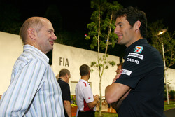 Adrian Newey, Red Bull Racing, Technical Operations Director and Mark Webber, Red Bull Racing
