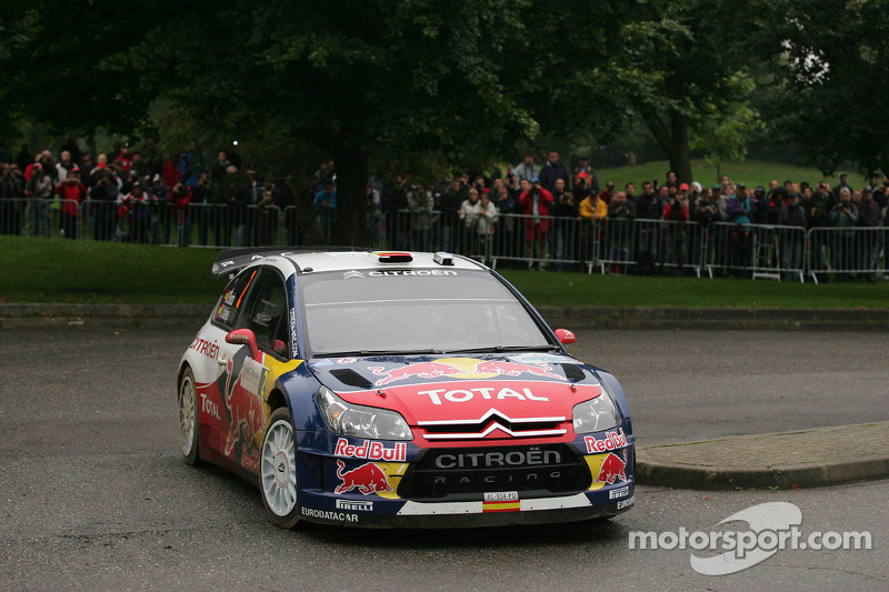 Dani Sordo en Diego Vallejo, Citroën C4 Citroën Total World Rally Team