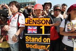 Een fan van Jenson Button, McLaren Mercedes
