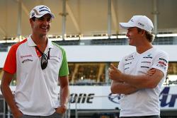 Adrian Sutil, Force India F1 Team, Nico Rosberg, Mercedes GP