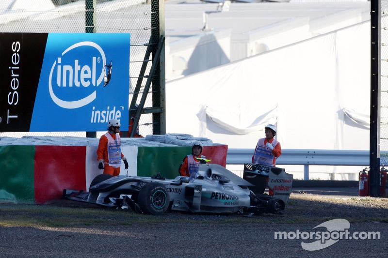 De wagen van Nico Rosberg, Mercedes GP