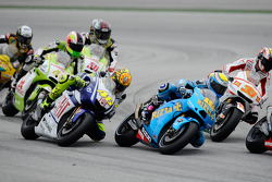 Valentino Rossi, Fiat Yamaha Team en Alvaro Bautista, Rizla Suzuki MotoGP