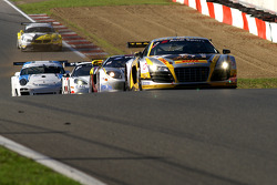The chasing pack: #3 Team Rosberg AUDI R8 LMS: Stéphane Lemeret, Kenneth Heyer