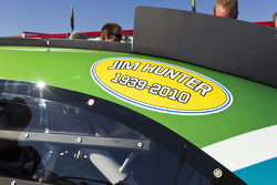 The NASCAR teams show their respect for the passing of Jim Hunter, NASCAR VP of Communications