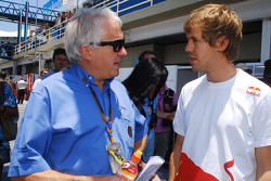 Charlie Whiting and Sebastian Vettel, Red Bull Racing