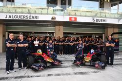 Toro Rosso team photo with Sebastien Buemi, Scuderia Toro Rosso and Jaime Alguersuari, Scuderia Toro Rosso