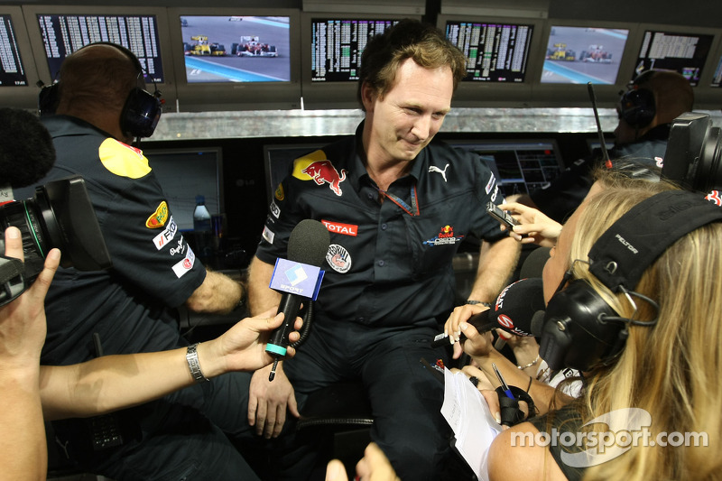 Christian Horner, Red Bull Racing, Sporting Director viert feest