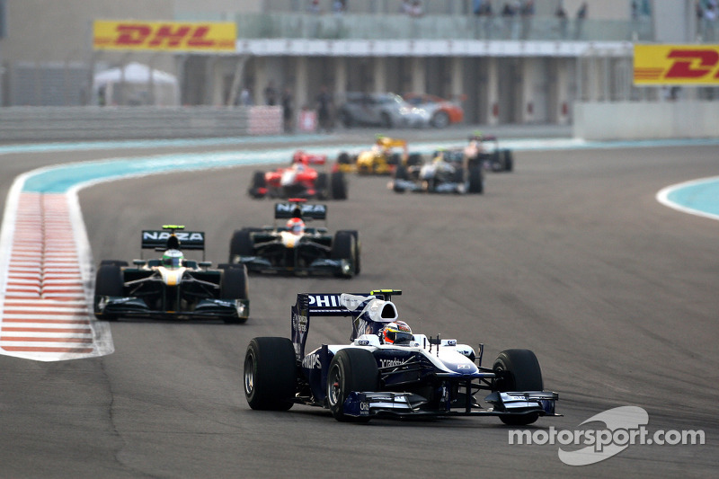 Rubens Barrichello, Williams F1 Team voor Heikki Kovalainen, Lotus F1 Team