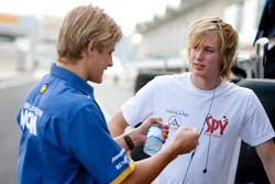 Brenden Hartley and Marcus Ericsson