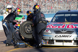 Pit stop for Scott Speed, Red Bull Racing Team Toyota