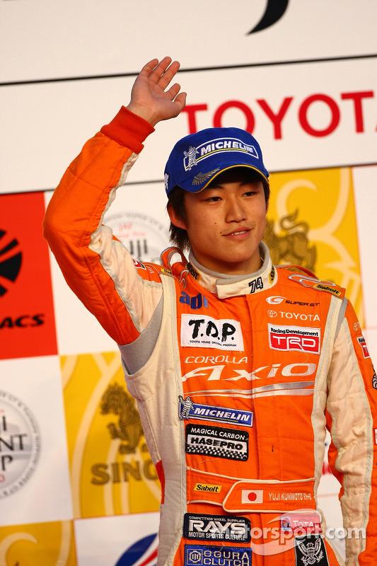 Podium GT300: 2de Yuji Kunimoto