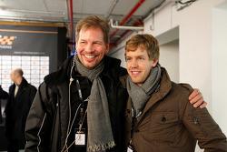 ROC organiser Frederik Johnson and Sebastian Vettel