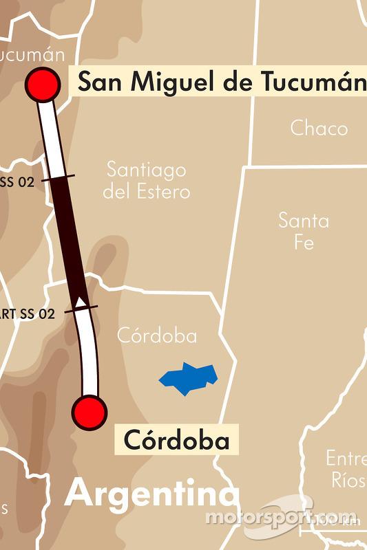 Etappe 3: 2011-01-03, Cordoba naar San Miguel de Tucuman