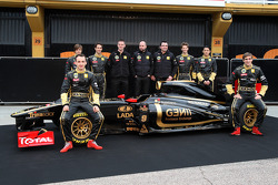 Robert Kubica, Lotus Renault GP, Jan Charouz, Bruno Senna, Gerard Lopez Genii Capital, Lotus Renault GP, Eric Boullier, Takım Patronu, Lotus Renault GP, Romain Grosjean, Ho-Pin Tung, Vitaly Petrov, Lotus Renault GP