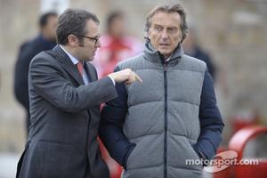 Stefano Domenicali Ferrari General Director and Luca di Montezemolo, Scuderia Ferrari, FIAT Chairman and President of Ferrari