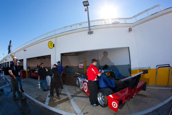 Chip Ganassi Racing with Felix Sabates team members at work