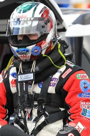 Castrol GTX Ford Mustang pilot, Mike Neff, preparing for his reentry into competition as a driver
