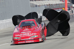James Day dploys his parachutes aboard the Sal Ramos Express Monte Carlo Funny Car