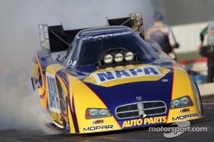 Ron Capps in his NAPA Auto parts Dodge Charger Funny Car