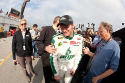 Dale Earnhardt Jr., Hendrick Motorsports Chevrolet talks to the media after crashing