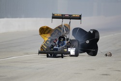 Troy Buff coasting in his BME / Okuma Top Fuel Dragster