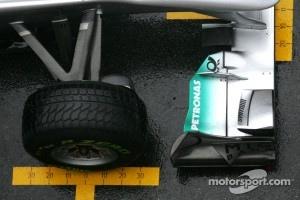 Michael Schumacher, Mercedes GP, Pirelli wet tyre
